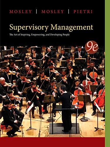 9781285063003: Supervisory Management