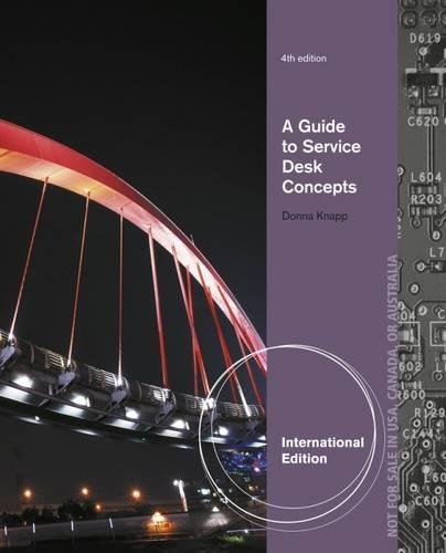 9781285063539: A Guide to Service Desk Concepts, International Edition