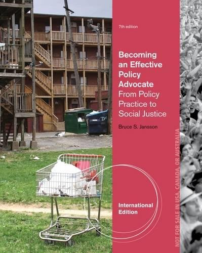 9781285064116: Becoming an Effective Policy Advocate, International Edition