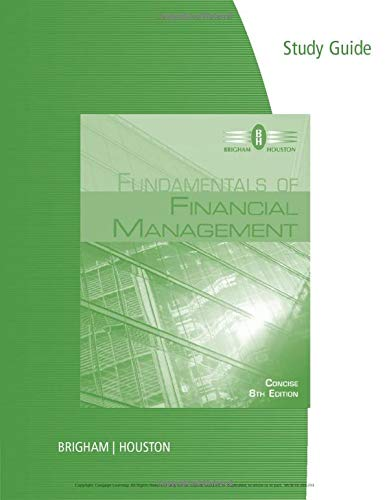 9781285065151: Study Guide for Brigham/Houston's Fundamentals of Financial Management, Concise Edition, 8th
