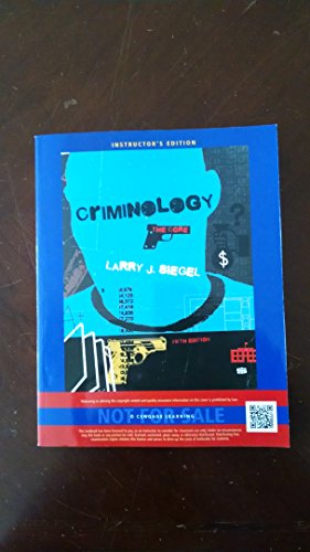 9781285068930: Criminology The Core Fifth Edition Instructor's Edition
