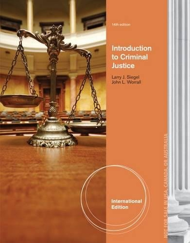 9781285069128: Introduction to Criminal Justice, International Edition