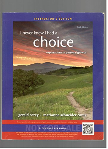 9781285069210: I Never Knew I Had a Choice: Explorations in Personal Growth