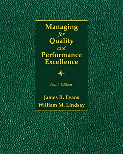 Managing for Quality and Performance Excellence (Hardback): James R. Evans, William M. Lindsay