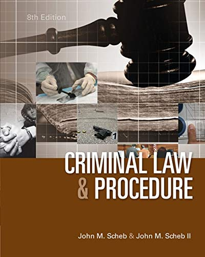 Criminal Law and Procedure: Scheb, John M.;
