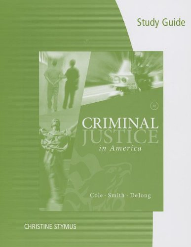 9781285072807: Study Guide for Cole/Smith/DeJong's Criminal Justice in America, 7th