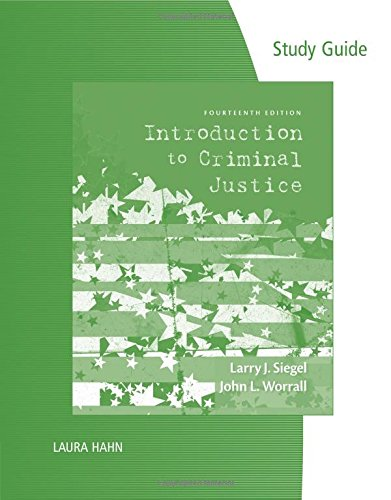 9781285073750: Study Guide for Siegel's Introduction to Criminal Justice, 14th