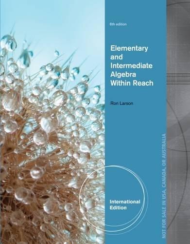 9781285074702: Lementary and Intermediate Algebra