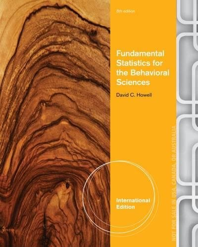 9781285076935: Fundamental Statistics for the Behavioral Sciences, International Edition