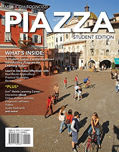 9781285076973: Student Activities Manual with iLrn™ Printed Access Card for Melucci/Tognozzi's Piazza