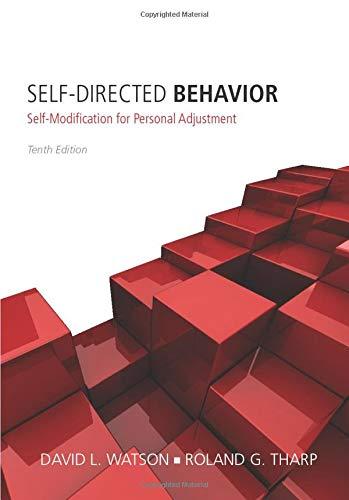 9781285077093: Self-Directed Behavior: Self-Modification for Personal Adjustment