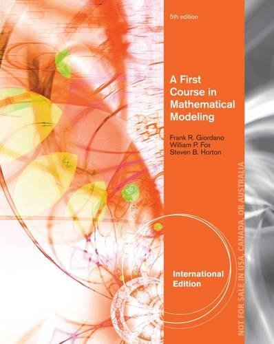 9781285077499: A First Course in Mathematical Modeling, International Edition