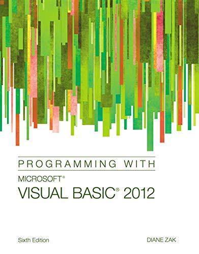 9781285077925: Programming with Microsoft Visual Basic 2012