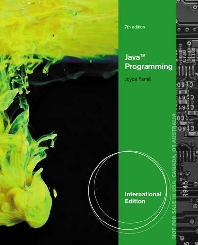 9781285081977: Java Programming, International Edition