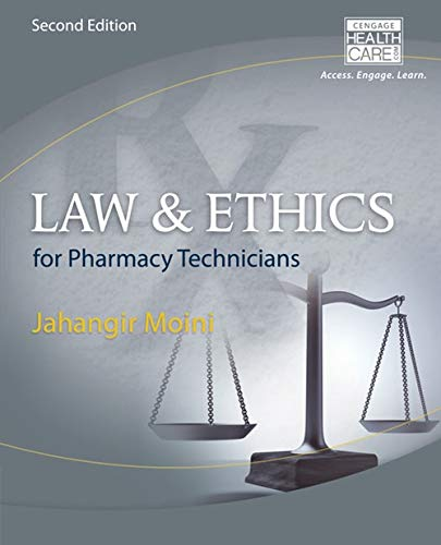 9781285082066: Law and Ethics for Pharmacy Technicians