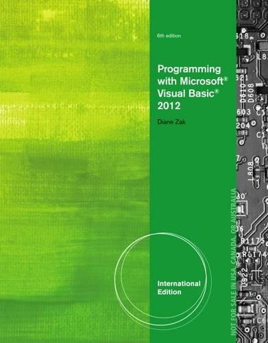 9781285082158: Programming with Microsoft Visual Basic 2012