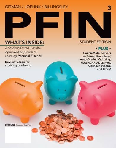 PFIN3 (with CourseMate Printed Access Card) (New, Engaging Titles from 4LTR Press) (9781285082578) by Lawrence J. Gitman; Michael D. Joehnk; Randall Billingsley