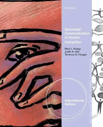 9781285083513: Non-verbal Communication in Human Interaction, International Edition