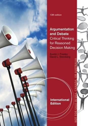9781285083575: Argumentation and Debate, International Edition