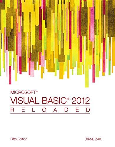 9781285084169: Microsoft Visual Basic 2012: RELOADED