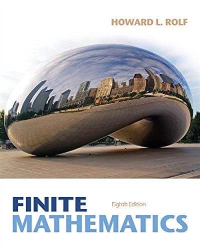 9781285084695: Student Solutions Manual for Rolf's Finite Mathematics, 8th