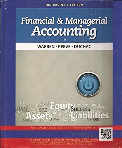 9781285085340: Financial & Managerial Accounting