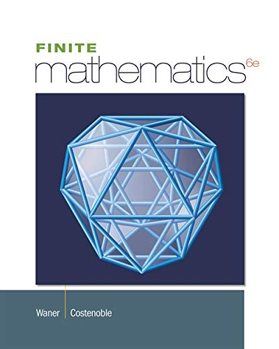 9781285085586: Student Solutions Manual for Waner/Costenoble's Finite Math