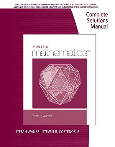 9781285085593: CSM Finite Math