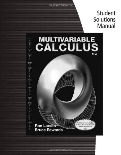 9781285085753: Student Solutions Manual for Larson/Edwards's Multivariable Calculus, 10th