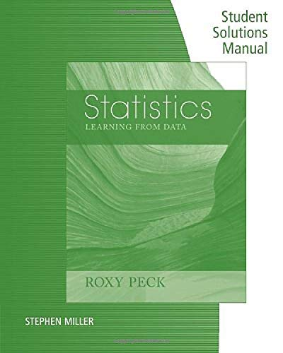 9781285089836: Student Solutions Manual for Peck's Statistics