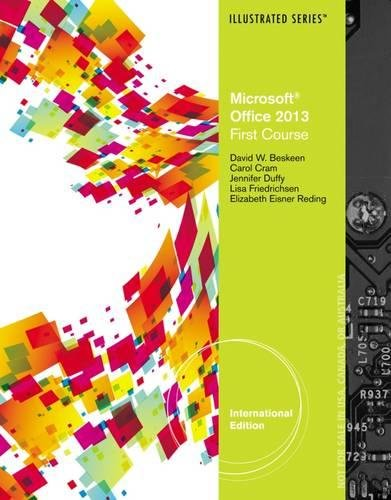 9781285092775: Microsoft (R) Office 2013: Illustrated Introductory, First Course, International Edition