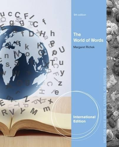 9781285094045: The World of Words