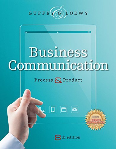 9781285094083: Business Communication: Process & Product (Book Only)