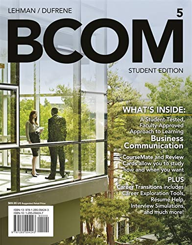 9781285094243: BCOM 5 (with CourseMate Printed Access Card) (New, Engaging Titles from 4LTR Press)