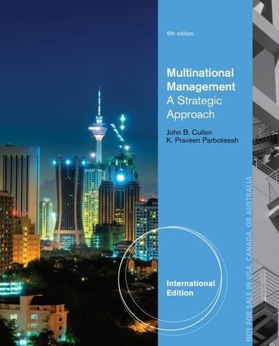 9781285096223: Multinational Management (International Edition)