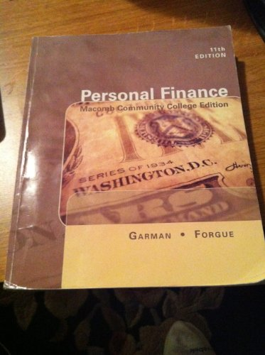 9781285099507: 11th Edition Personal Finance Macomb Community College Edition