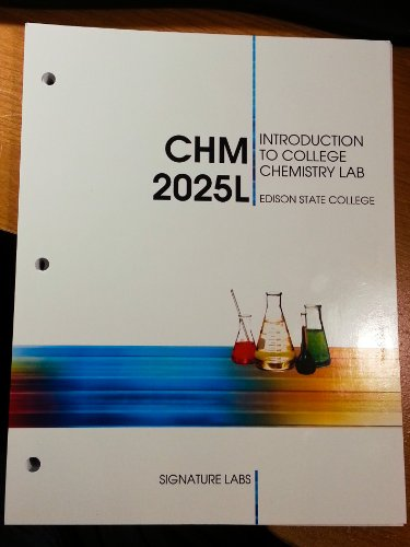 9781285100630: Introduction to College Chemistry Lab CHM 2025L Edison State College