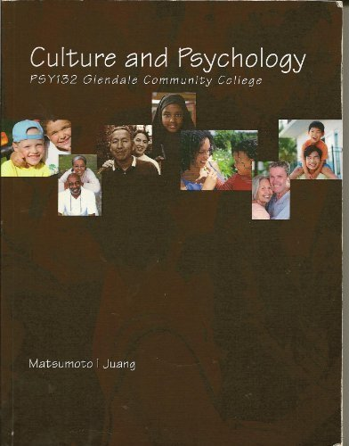 9781285100654: Culture and Psychology : PSY132 Glendale Community College
