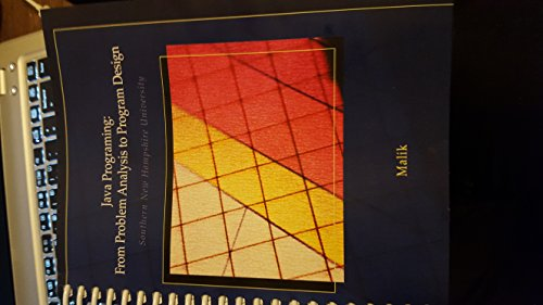 9781285101460: Java Programing By Malik