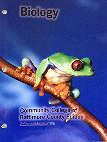 9781285103051: Biology (Community College of Baltimore County Edition) Solomon/Berg/Martin