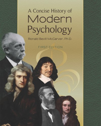 9781285103112: A Concise History of Modern Psychology by McCarver, Ronald Bevill (2012) Paperback