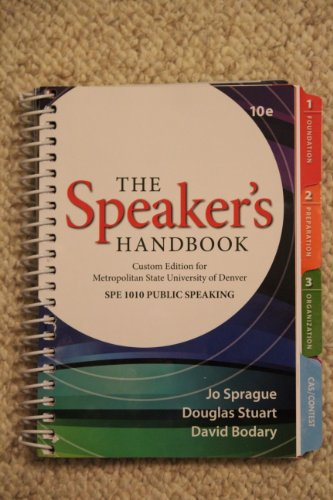 9781285103433: The Speaker's Handbook