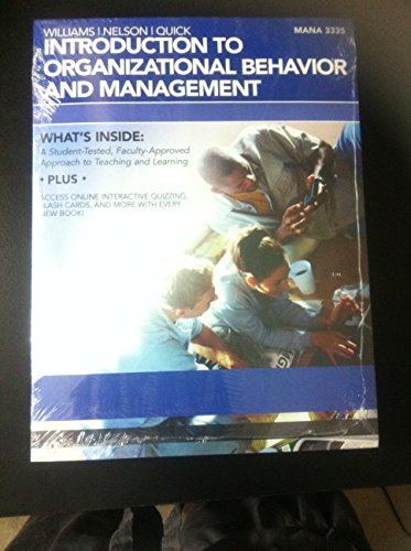 Introduction to Organizational Behavior and Management - UH 2012 w/ Access Key (MANA 3335 from 2012) (1285105605) by Chuck Williams; Debra L. Nelson; James Campbell Quick