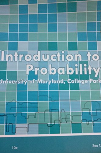 9781285105666: Introduction to Probability (University of Maryland, College Park) 10e