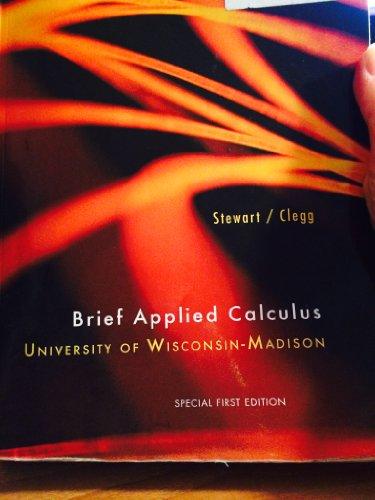 9781285106519: Brief Applied Calculus UW Madison editon