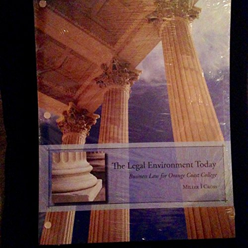 9781285108841: The Legal Environment Today-Business Law for Orange Coast College