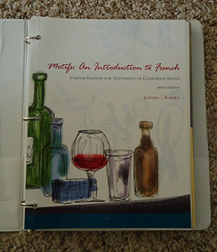 9781285109046: Motifs: An Introduction to French Custom Edition for University of California Irvine