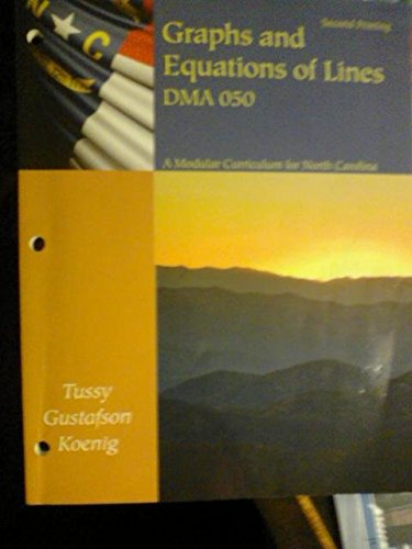 9781285109664: Graphs and Equations of Lines DMA 050
