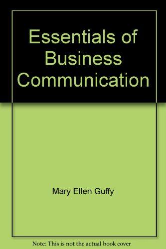 9781285109732: Essentials of Business Communication