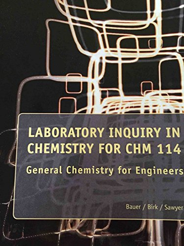 9781285110318: Laboratoty Inquiry in Chemistry for CHM 114